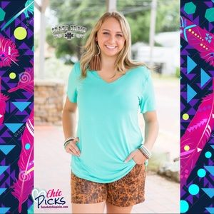 Turquoise Butter Basic Tee by Crazy Train